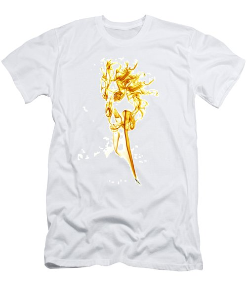 Ghostly Smoke - Orange Men's T-Shirt (Athletic Fit)