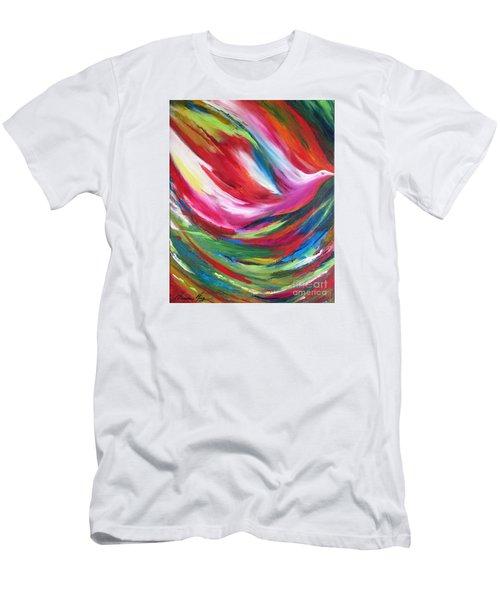 Spirit Takes Flight Men's T-Shirt (Slim Fit) by Denise Hoag