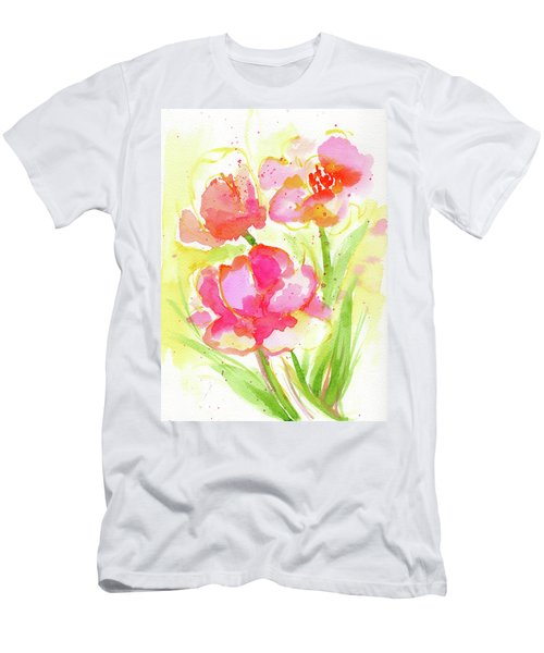 Splash Of Pinks  Men's T-Shirt (Athletic Fit)