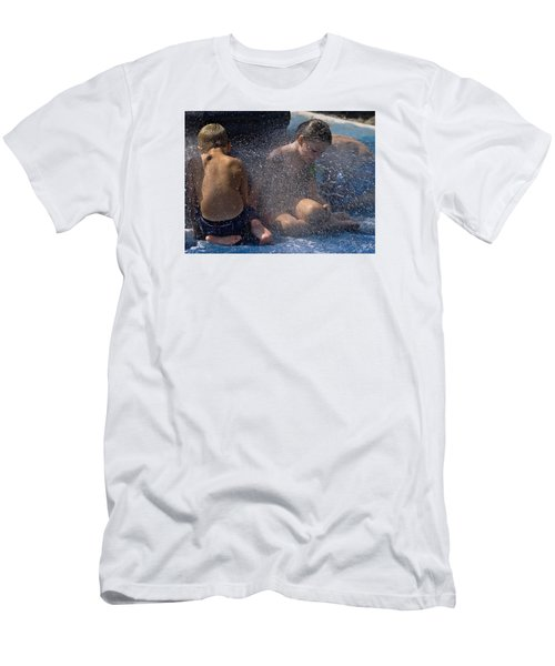 Men's T-Shirt (Slim Fit) featuring the photograph Splish Splash Summer by Laura Ragland