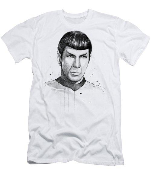 Spock Watercolor Portrait Men's T-Shirt (Athletic Fit)