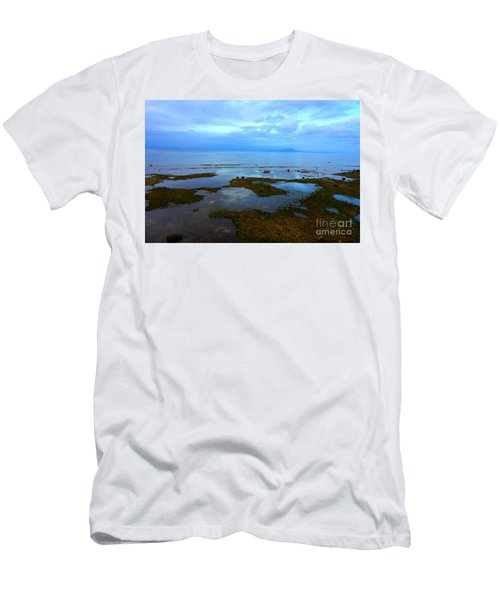 Spooky Morning Tide Receded From Beach Men's T-Shirt (Athletic Fit)