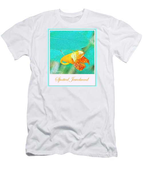 Men's T-Shirt (Slim Fit) featuring the photograph Spotted Jewelweed Wildflower by A Gurmankin