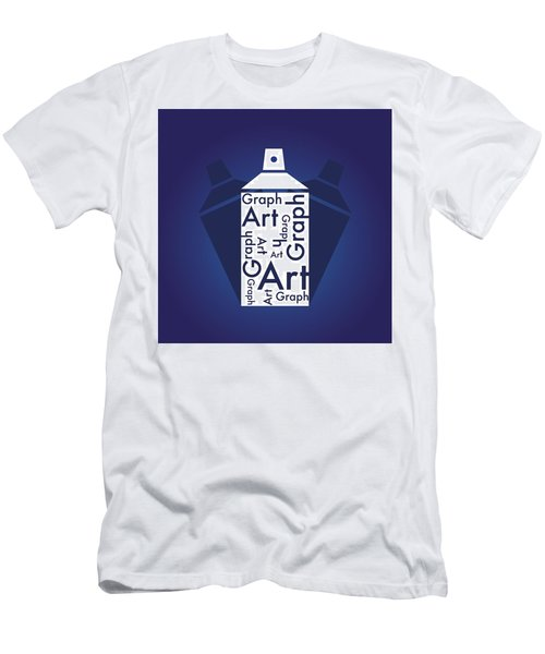 Graph Art Spray Can Men's T-Shirt (Athletic Fit)