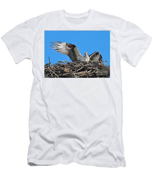 Men's T-Shirt (Athletic Fit) featuring the photograph Spread-winged Osprey  by Debbie Stahre