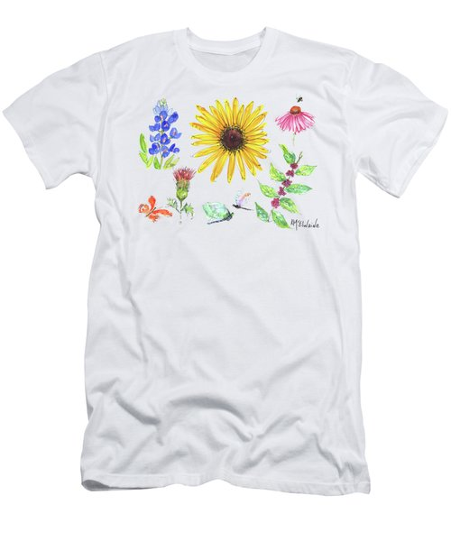 Spring 2017 Medley Watercolor Art By Kmcelwaine Men's T-Shirt (Slim Fit) by Kathleen McElwaine