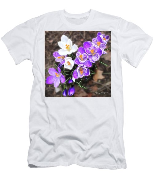 Men's T-Shirt (Slim Fit) featuring the photograph Spring Beauties by Terri Harper