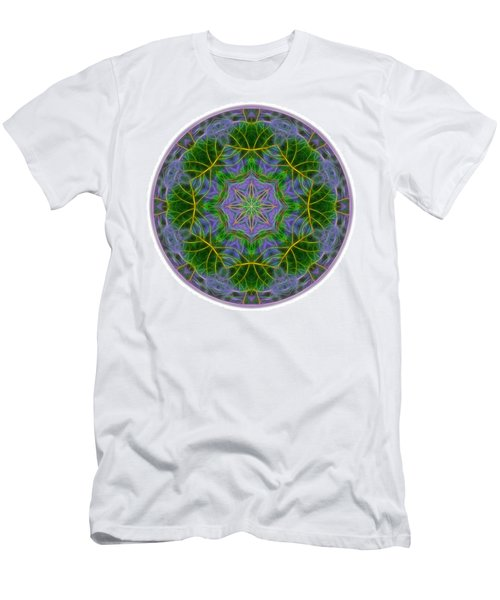 Spring Bloom Colors Mandala Men's T-Shirt (Athletic Fit)