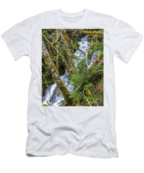 Spring Cascade Men's T-Shirt (Slim Fit) by Chuck Flewelling