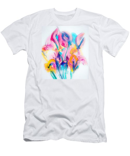 Spring Floral Abstract Men's T-Shirt (Athletic Fit)