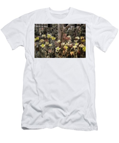 Men's T-Shirt (Slim Fit) featuring the photograph Spring Flowers by Joann Vitali