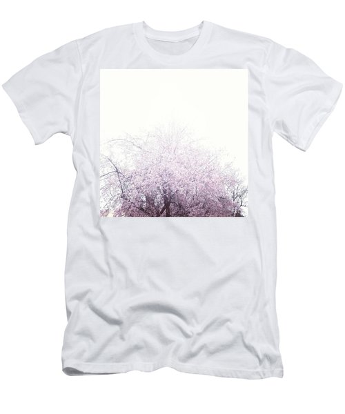 #spring #flowers #tree #college #pink Men's T-Shirt (Athletic Fit)