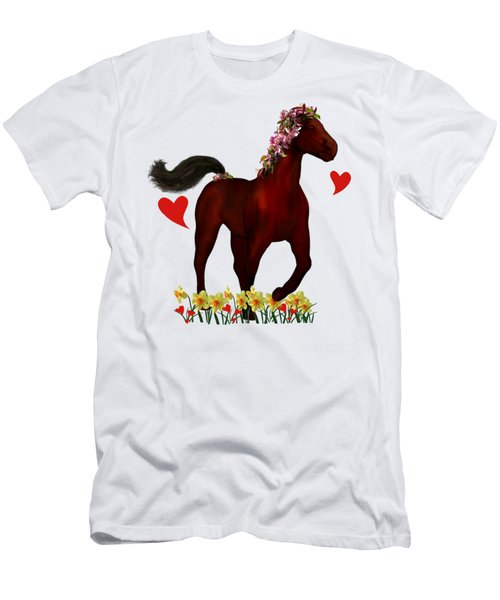 Spring Horse Men's T-Shirt (Athletic Fit)