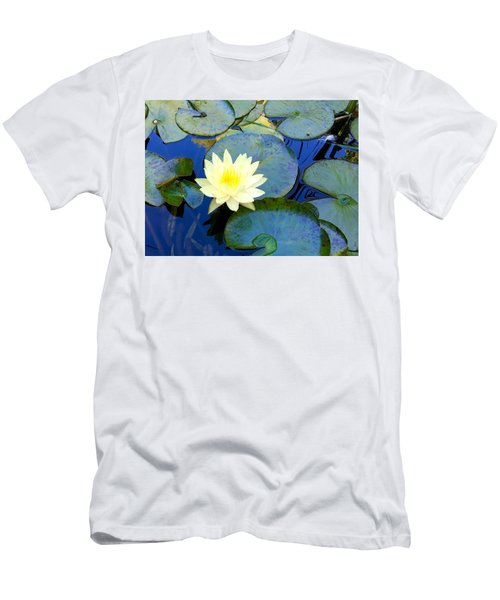 Spring Lily Men's T-Shirt (Slim Fit) by Angela Annas