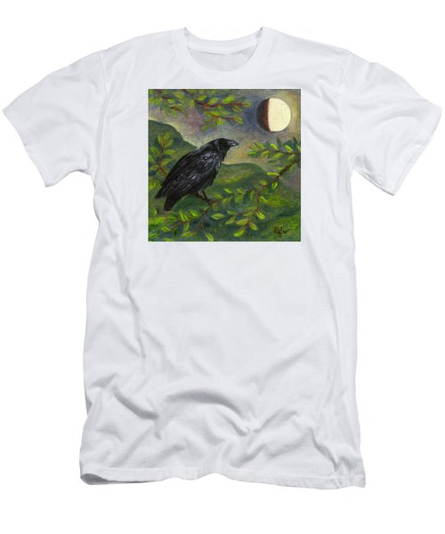 Spring Moon Raven Men's T-Shirt (Slim Fit) by FT McKinstry