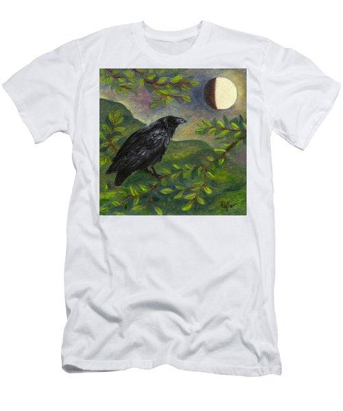 Spring Moon Raven Men's T-Shirt (Athletic Fit)