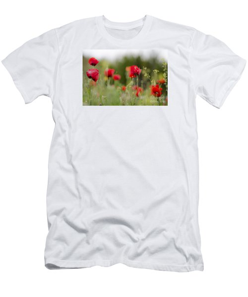 Spring Poppies  Men's T-Shirt (Slim Fit) by Perry Van Munster