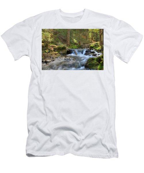 Spring Run Off Men's T-Shirt (Slim Fit) by Sean Allen