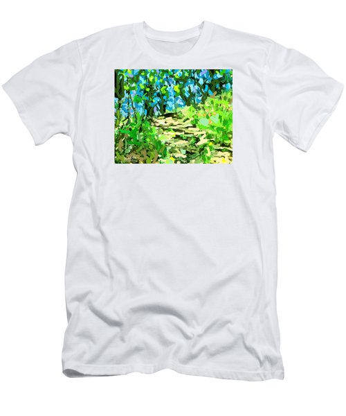 Spring Wood Path  Men's T-Shirt (Athletic Fit)