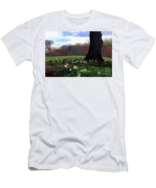 Men's T-Shirt (Slim Fit) featuring the photograph Springing Forward At Edgemont Golf Course by Polly Peacock
