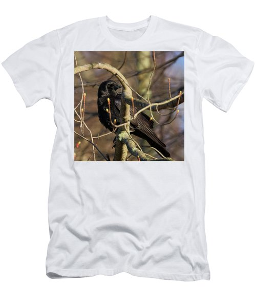 Men's T-Shirt (Slim Fit) featuring the photograph Springtime Crow Square by Bill Wakeley