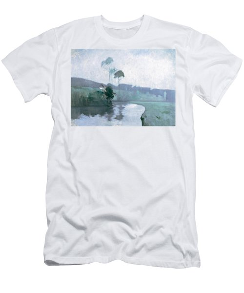 Men's T-Shirt (Slim Fit) featuring the painting Springtime by John Henry Twachtman