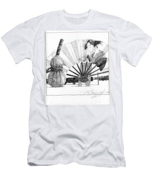 Spirit Of Japan. Pumpkin Jar And Fan Men's T-Shirt (Athletic Fit)