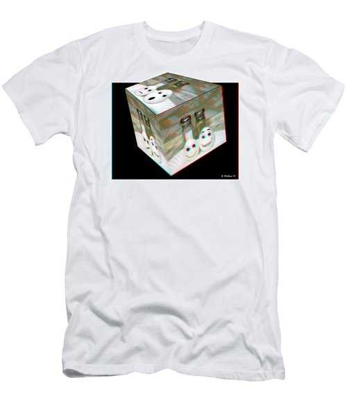Square Meal - Use Red-cyan 3d Glasses Men's T-Shirt (Athletic Fit)