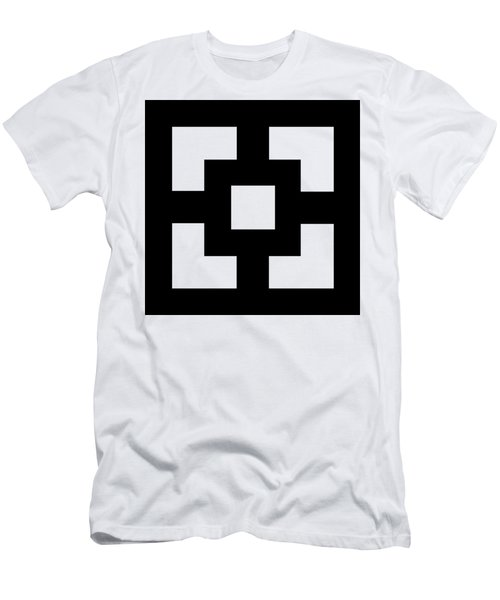 Men's T-Shirt (Slim Fit) featuring the digital art Squares - Chuck Staley by Chuck Staley