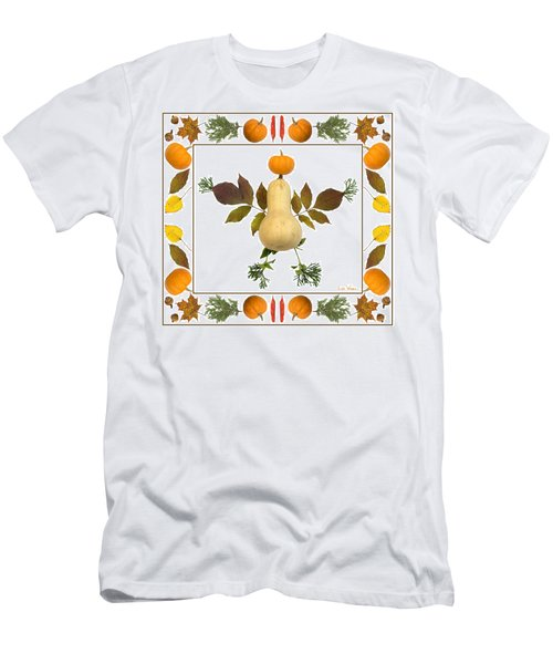 Squash With Pumpkin Head Men's T-Shirt (Athletic Fit)