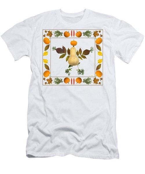 Squash With Pumpkin Head Men's T-Shirt (Athletic Fit)