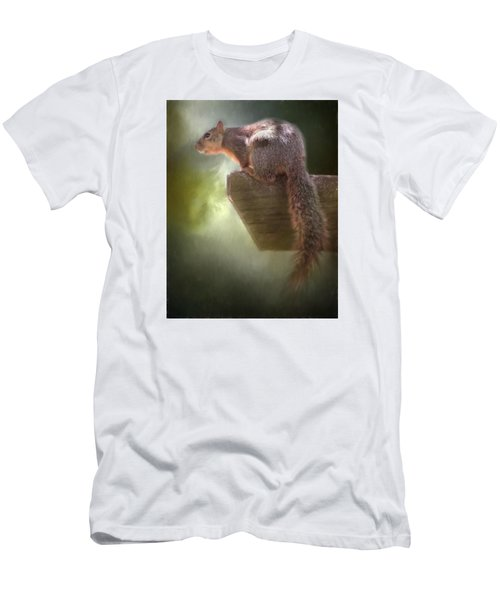 Squirrel Men's T-Shirt (Slim Fit) by David and Carol Kelly
