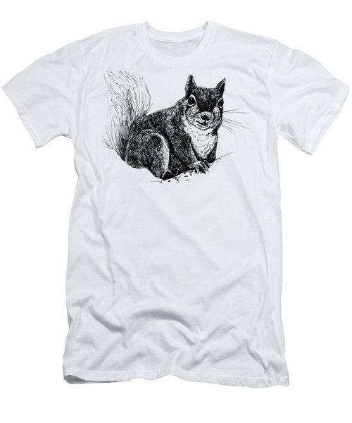 Squirrel Drawing Men's T-Shirt (Slim Fit) by Katerina Kirilova