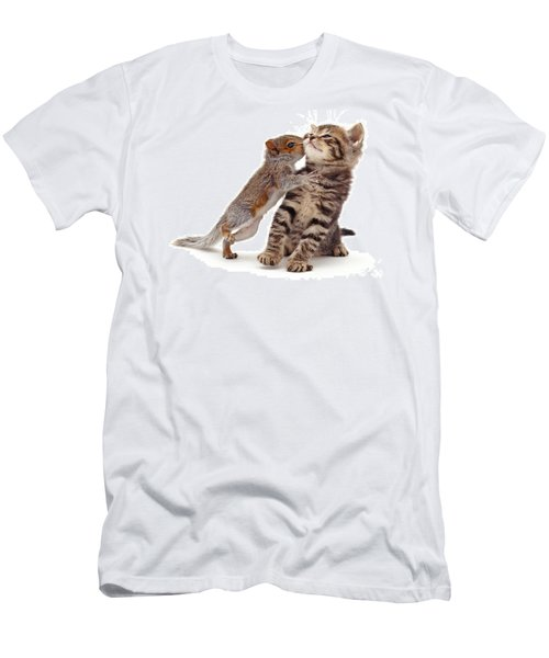 Squirrel Kiss Men's T-Shirt (Athletic Fit)