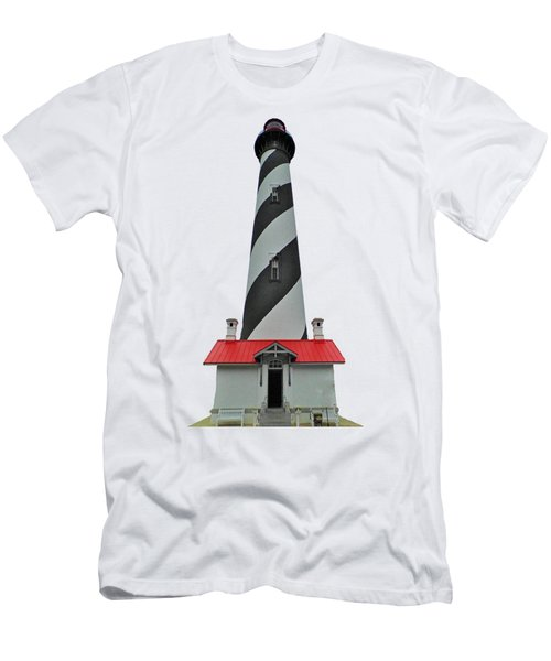 St Augustine Lighthouse Transparent For T Shirts Men's T-Shirt (Athletic Fit)