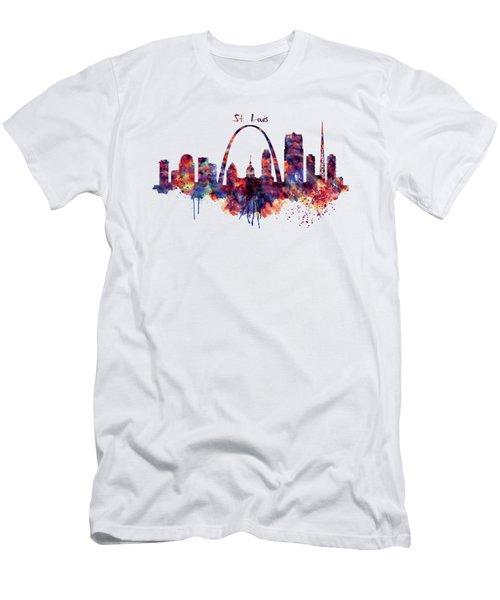 St Louis Skyline Men's T-Shirt (Athletic Fit)