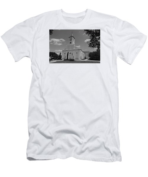 St. Martinville Church Men's T-Shirt (Slim Fit) by Ronald Olivier