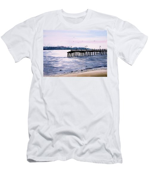 St. Simons Island Fishing Pier Men's T-Shirt (Athletic Fit)
