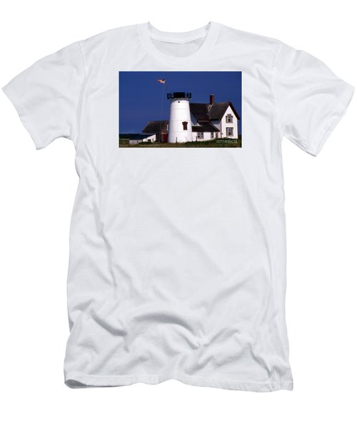 Stage Harbor Lighthouse Ma Men's T-Shirt (Athletic Fit)