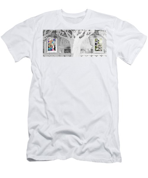Stained Glass Windows Disney Men's T-Shirt (Athletic Fit)