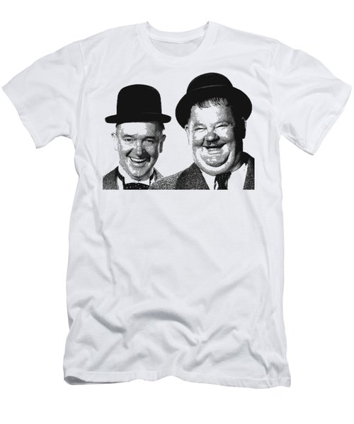 Stan And Ollie - Parallel Hatching Men's T-Shirt (Athletic Fit)