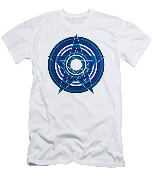 Star Marine Over Concentric Circles Men's T-Shirt (Athletic Fit)
