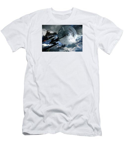 Star Trek Into Darkness, Original Mixed Media Men's T-Shirt (Slim Fit) by Thomas Pollart