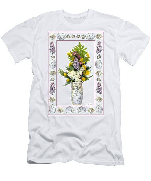 Star Vase With A Bouquet From Heaven Men's T-Shirt (Slim Fit) by Lise Winne