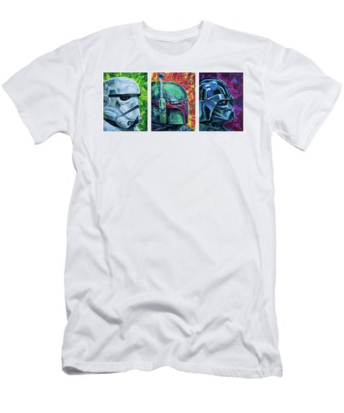 Star Wars Helmet Series - Triptych Men's T-Shirt (Athletic Fit)