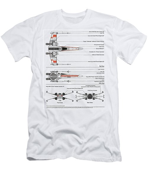 Star Wars X Wing Plans Men's T-Shirt (Athletic Fit)