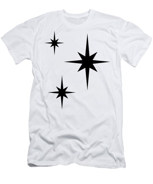 Men's T-Shirt (Athletic Fit) featuring the digital art Starburst 2 Trio  by Donna Mibus