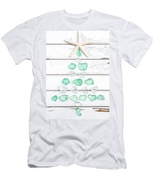 Starfish Christmas Tree Men's T-Shirt (Athletic Fit)