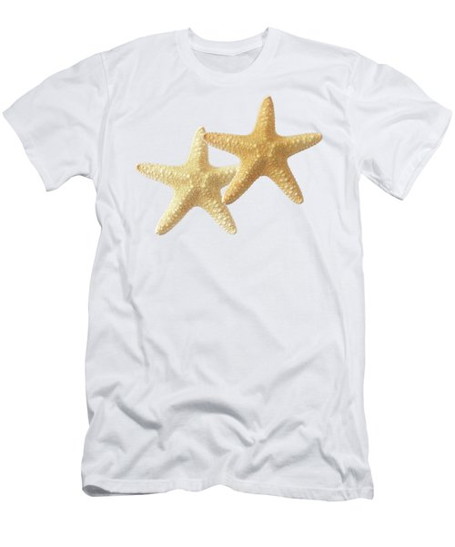 Starfish On White Men's T-Shirt (Athletic Fit)