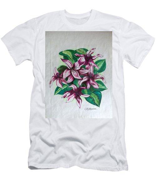 Stargazers Blooming Men's T-Shirt (Slim Fit) by J R Seymour